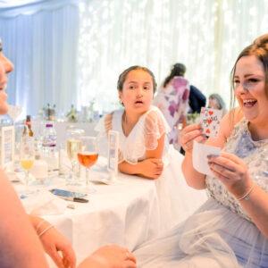 bridesmaids wedding card tricks wedd