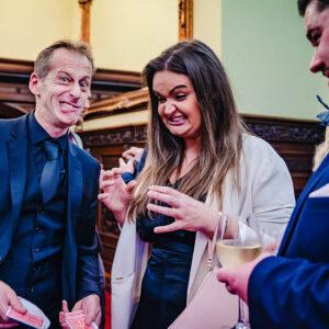 wedding reception magician wedd